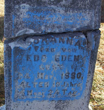 EDEN, JOHANN A. (CLOSE-UP) - Shelby County, Iowa | JOHANN A. (CLOSE-UP) EDEN