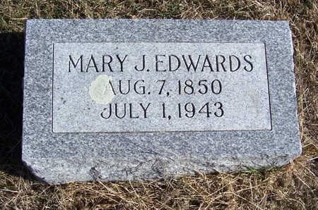 EDWARDS, MARY J. - Shelby County, Iowa | MARY J. EDWARDS
