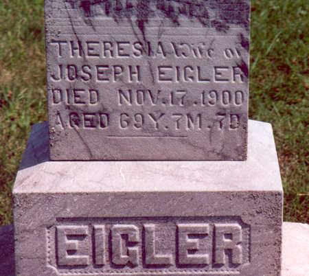 EIGLER, THERESIA - Shelby County, Iowa | THERESIA EIGLER