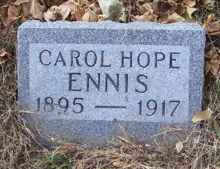ENNIS, CAROL HOPE - Shelby County, Iowa   CAROL HOPE ENNIS