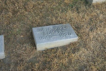 PIPER EOKARS, JULIA - Shelby County, Iowa   JULIA PIPER EOKARS