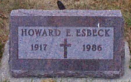 ESBECK, HOWARD E. - Shelby County, Iowa | HOWARD E. ESBECK