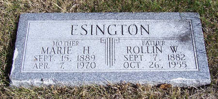 ESINGTON, MARIE H. (MOTHER) - Shelby County, Iowa | MARIE H. (MOTHER) ESINGTON
