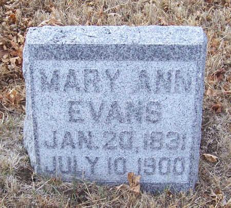 EVANS, MARY ANN - Shelby County, Iowa | MARY ANN EVANS