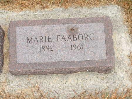 FAABORG, MARIE - Shelby County, Iowa | MARIE FAABORG