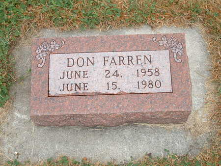 FARREN, DON - Shelby County, Iowa | DON FARREN