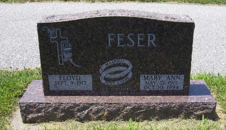 OHLINGER FESER, MARY ANN - Shelby County, Iowa | MARY ANN OHLINGER FESER