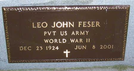 FESER, LEO JOHN (MILITARY) - Shelby County, Iowa   LEO JOHN (MILITARY) FESER