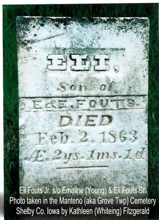 FOUTS, ELI (JR.) - Shelby County, Iowa | ELI (JR.) FOUTS