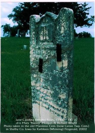 FOUTS, JANE CAROLINE (WRIGHT) - Shelby County, Iowa | JANE CAROLINE (WRIGHT) FOUTS