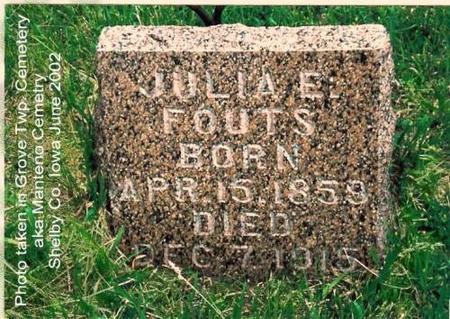 FOUTS, JULIA E. (ROUNDY) - Shelby County, Iowa | JULIA E. (ROUNDY) FOUTS