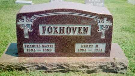 KAUFMAN FOXHOVEN, FRANCES MARIE - Shelby County, Iowa   FRANCES MARIE KAUFMAN FOXHOVEN