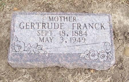 FRANCK, GERTRUDE - Shelby County, Iowa | GERTRUDE FRANCK