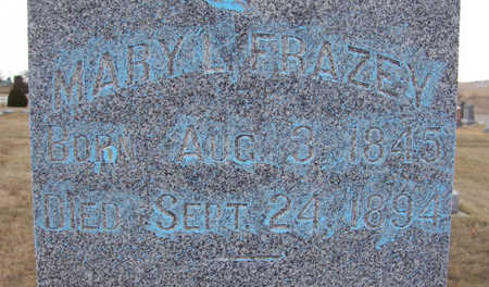 FRAZEY, MARY L. (CLOSE-UP) - Shelby County, Iowa   MARY L. (CLOSE-UP) FRAZEY
