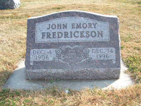 FREDRICKSEN, JOHN EMORY - Shelby County, Iowa | JOHN EMORY FREDRICKSEN