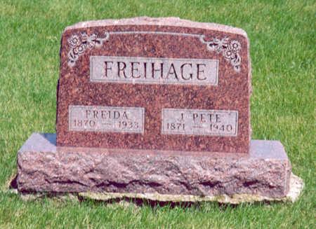 FREIHAGE, J. PETE & FREIDA - Shelby County, Iowa   J. PETE & FREIDA FREIHAGE