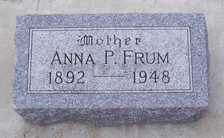 FRUM, ANNA P. (MOTHER) - Shelby County, Iowa | ANNA P. (MOTHER) FRUM
