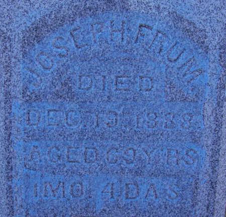 FRUM, JOSEPH - Shelby County, Iowa | JOSEPH FRUM