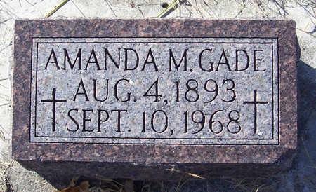 GADE, AMANDA M. - Shelby County, Iowa   AMANDA M. GADE