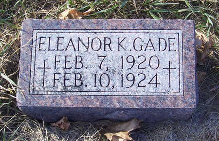 GADE, ELEANOR K. - Shelby County, Iowa | ELEANOR K. GADE