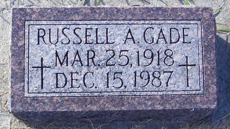 GADE, RUSSELL A. - Shelby County, Iowa | RUSSELL A. GADE
