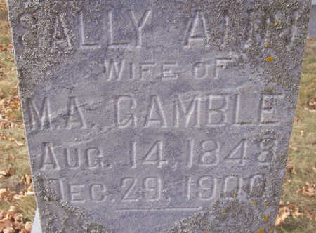 GAMBLE, SALLY ANN (CLOSE-UP) - Shelby County, Iowa   SALLY ANN (CLOSE-UP) GAMBLE