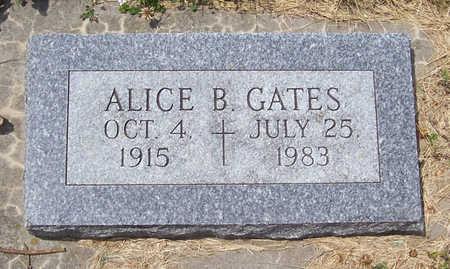 SCHWERY GATES, ALICE B. - Shelby County, Iowa   ALICE B. SCHWERY GATES