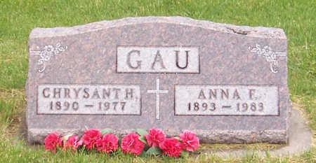 GAU, ANNA F. - Shelby County, Iowa | ANNA F. GAU
