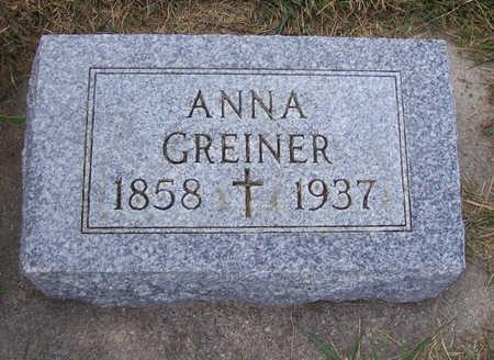 GREINER, ANNA - Shelby County, Iowa | ANNA GREINER