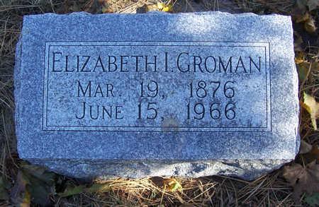 GROMAN, ELIZABETH I. - Shelby County, Iowa | ELIZABETH I. GROMAN