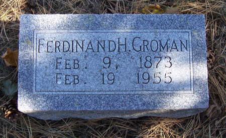 GROMAN, FERDINAND H. - Shelby County, Iowa | FERDINAND H. GROMAN