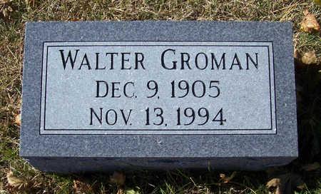 GROMAN, WALTER - Shelby County, Iowa | WALTER GROMAN