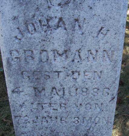 GROMANN, JOHAN H. (CLOSE-UP) - Shelby County, Iowa | JOHAN H. (CLOSE-UP) GROMANN