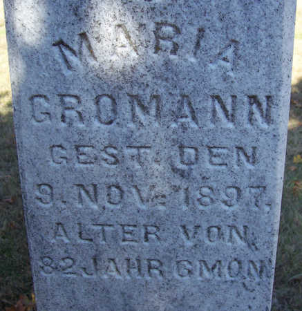 GROMANN, MARIA (CLOSE-UP) - Shelby County, Iowa | MARIA (CLOSE-UP) GROMANN