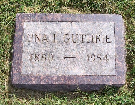 GUTHRIE, UNA L. - Shelby County, Iowa | UNA L. GUTHRIE