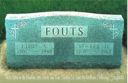 FOUTS, HOLLEY D. & ETHEL V. - Shelby County, Iowa | HOLLEY D. & ETHEL V. FOUTS