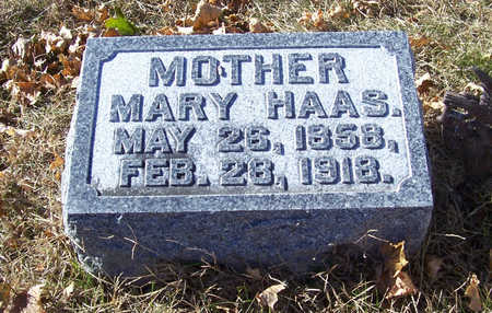 HAAS, MARY (MOTHER) - Shelby County, Iowa | MARY (MOTHER) HAAS