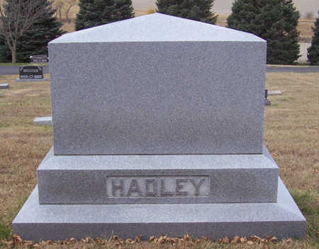 HADLEY, JAMES T. & SARAH D. (LOT) - Shelby County, Iowa   JAMES T. & SARAH D. (LOT) HADLEY