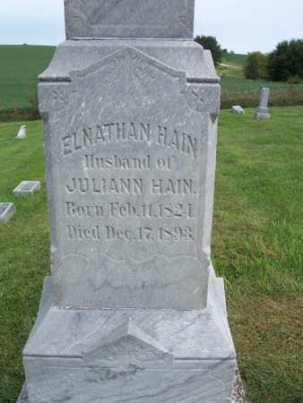 HAIN, ELNATHAN - Shelby County, Iowa   ELNATHAN HAIN
