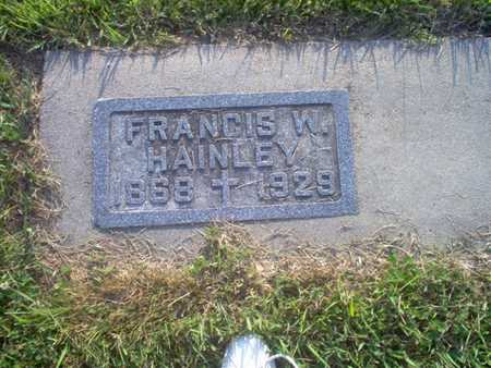 HAINLEY, FRANCIS W.   (FRANCIS WILLIAM) - Shelby County, Iowa | FRANCIS W.   (FRANCIS WILLIAM) HAINLEY