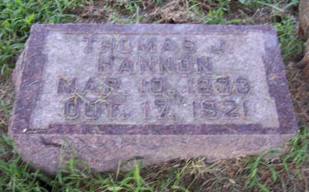 HANNON, THOMAS J. - Shelby County, Iowa | THOMAS J. HANNON