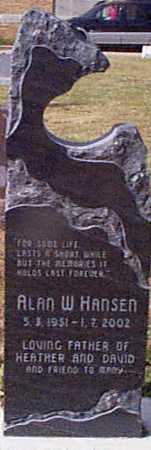 HANSEN, ALLAN W - Shelby County, Iowa | ALLAN W HANSEN
