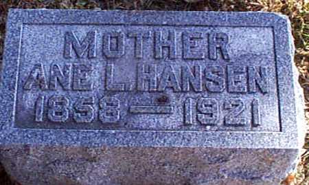 HANSEN, ANE L - Shelby County, Iowa | ANE L HANSEN