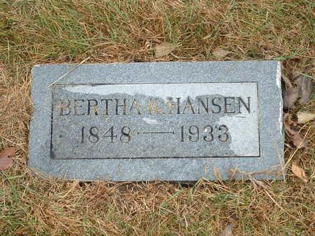 HANSEN, BERTHA K - Shelby County, Iowa | BERTHA K HANSEN