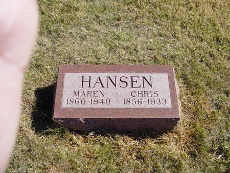 HANSEN, CHRIS - Shelby County, Iowa | CHRIS HANSEN