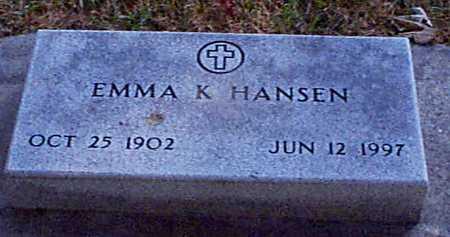 KIRK HANSEN, EMMA - Shelby County, Iowa | EMMA KIRK HANSEN