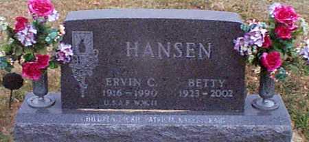 HANSEN, ERVIN C - Shelby County, Iowa | ERVIN C HANSEN