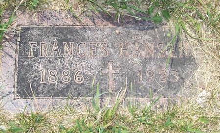 HANSEN, FRANCES - Shelby County, Iowa | FRANCES HANSEN
