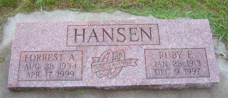 HANSEN, RUBY F. - Shelby County, Iowa | RUBY F. HANSEN