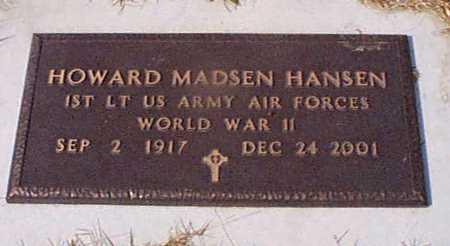 HANSEN, HOWARD MADSEN - Shelby County, Iowa   HOWARD MADSEN HANSEN